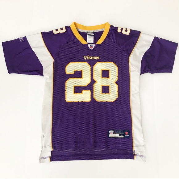promo code 5cb53 78174 2/$15 Vikings Jersey Size L Youth Adrian Peterson